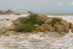 海上的石头 库存图片