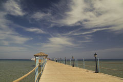海上的码头 免版税图库摄影
