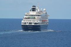 海上的荷兰美国船Prinsendam 图库摄影