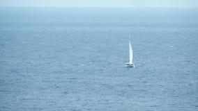 海上的遥远的航行筏 影视素材