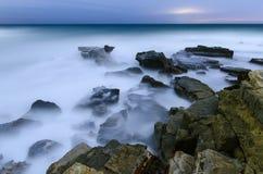 海上的雾 免版税图库摄影