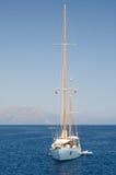 海上的风船 免版税库存照片