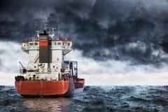 海上的风暴 免版税库存图片