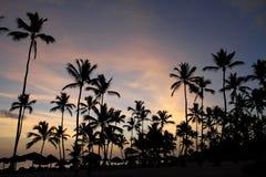 海上的黎明在多米尼加共和国 免版税图库摄影