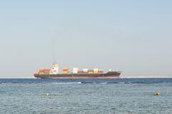 海上的货船 库存照片