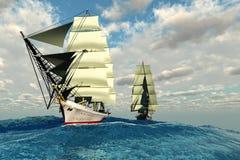 海上航道 免版税库存图片