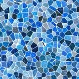 海上色了与白色水泥的地板大理石不规则的塑料石马赛克样式无缝的背景-蓝色颜色 图库摄影