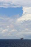 海上钻探钻机和平台 免版税库存照片