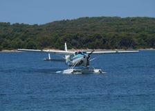 海上飞机 图库摄影