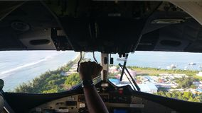 海上飞机 库存照片
