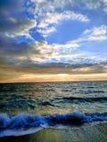 海上,它破晓` s美好的视域 库存图片