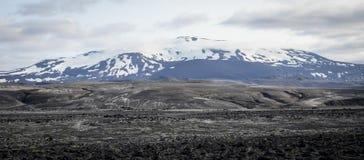 海克拉火山火山,冰岛 免版税库存照片