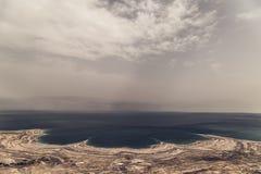 死海全景以色列 库存图片