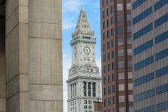 海关塔在波士顿 免版税图库摄影