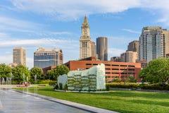 海关塔在波士顿 免版税库存图片
