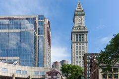 海关塔在波士顿 库存照片
