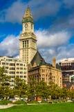 海关塔,在波士顿,马萨诸塞 图库摄影