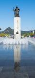 海军上将李舜臣的雕象 免版税库存照片