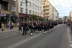 海军乐队在格丁尼亚,波兰 免版税库存图片