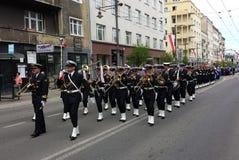 海军乐队在格丁尼亚,波兰 库存图片