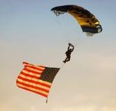 海军伞兵联合国 免版税库存照片