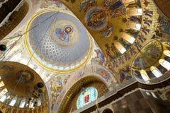 海军圣尼古拉斯大教堂圆屋顶在Kronstadt 免版税库存照片