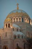 海军大教堂的kronstadt 库存图片