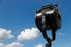 海军摩尔斯电码信号灯 免版税库存图片