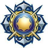 海军样式徽章 库存照片