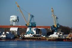 海军波兹毛斯造船厂 免版税图库摄影
