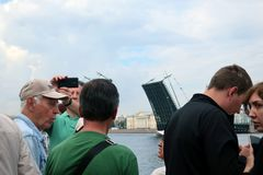 海军的游行, 2017年7月28日在圣彼德堡 图库摄影