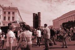 海军的游行, 2017年7月28日在圣彼德堡 库存图片