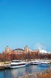 海军码头在芝加哥早晨 库存图片