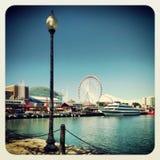 海军码头芝加哥 免版税库存图片