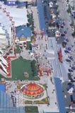 海军码头,芝加哥,伊利诺伊鸟瞰图  库存照片