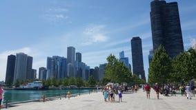 海军码头,芝加哥, IL 免版税库存图片