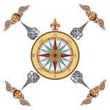 海军罗盘 免版税库存照片