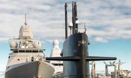 海军舰队 免版税库存图片