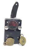 海军葡萄酒军事作战手电和传送带的徽章 免版税库存照片