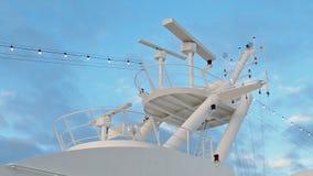 海军转动的民用的雷达 股票录像