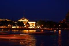 海军部。 圣彼德堡,俄国。 免版税库存图片