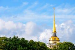 海军部俄语尖顶 免版税图库摄影