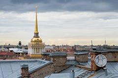 海军部在圣彼德堡 免版税库存图片