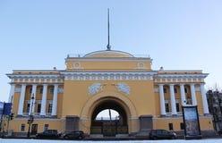 海军部大厦在圣彼德堡 免版税库存图片