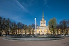 海军部大厦,圣彼得堡,俄罗斯 免版税库存图片
