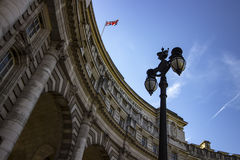 海军部曲拱纪念碑在伦敦 库存图片