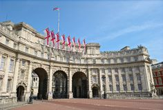 海军部曲拱英国伦敦购物中心英国 免版税库存照片
