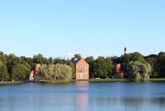 海军部的看法 24凯瑟琳中心系列前面的皇家km贵族公园彼得斯堡住宅俄国selo南st tsarskoye访问 普希金市 库存照片