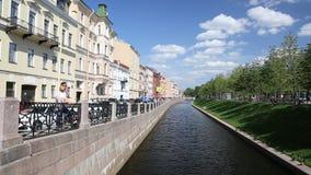 海军部运河的看法在城市公园'新的荷兰附近的'在圣彼德堡 股票视频