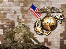 海军陆战队员excelence的历史 库存图片